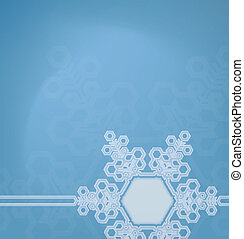 Frosted glass background with snowflakes - Christmas frosted...