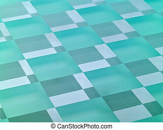 Frosted Glass Checkerboard - A glass checkerboard with clear...