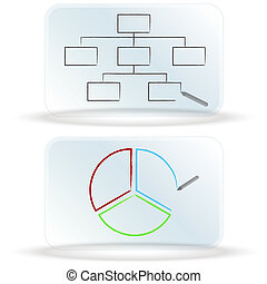 Frosted Glass Dry Erase Board Charts - An image of frosted...