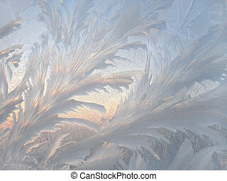 Frosted glass - frosted window glass - winter background