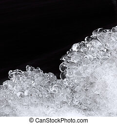 Frosted ice - Black and white frosted ice background texture
