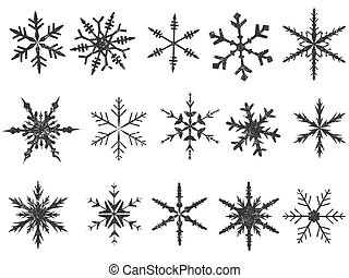 Frosted Snowflake Elements 1