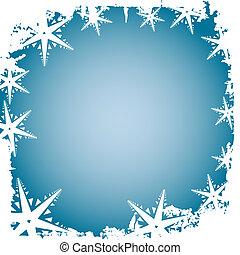 Frosty snowflake border