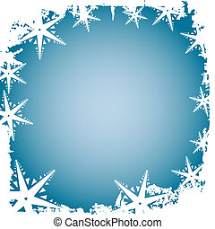 Frosty border - Frosty snowflake border