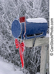 Frosty Mailbox - A Frosty Snow Covered Mailbox
