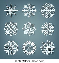 frosty snow set