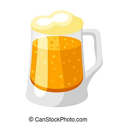 froth., tazza birra, luce