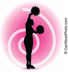 froussard, silhouette, cheerleader