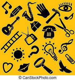 froussard, vecteur, 22, objets
