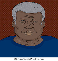 Frowning Mature Black Man - Serious frowning mature Black...