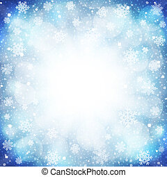 Frozen background - Vector illustration of a beautiful...