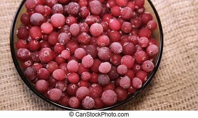 Frozen berries, close-up. Full hd video - Frozen berries,...