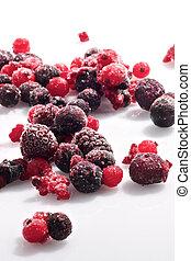 Frozen berries - Picture of various frozen berries on a...
