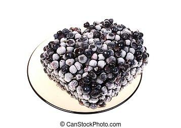 Frozen Blackberry isolated on white