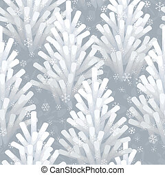 frozen Christmas tree seamless