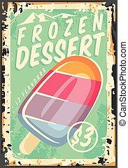 Frozen dessert promotional advertisement