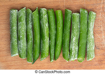 Frozen eleven sticks of asparagus