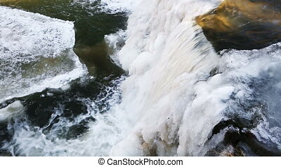 Frozen Falls Loop - Loop features water plunging over a...