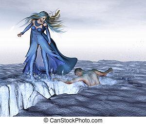 Frozen Fantasy Ice Scene