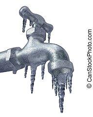 Frozen Faucet - 3D illustration