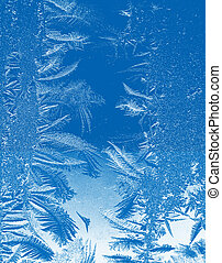 Feel the coldness of winter with a frozen frosty icy background.