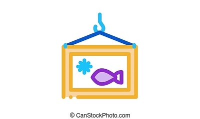 frozen fish box Icon Animation