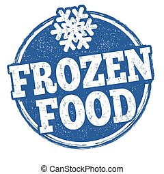 Frozen food grunge rubber stamp