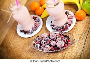 Frozen fruits - frozen berry fruits