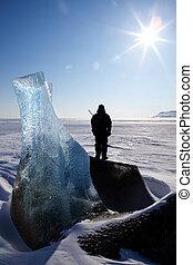 Frozen Glacier Landscape