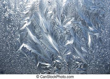 frozen glass - Frozen glass of a window