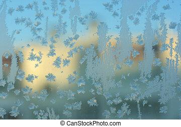 Frozen glass texture