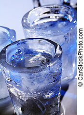 Frozen glasses with cold alochol drink - Frozen glasses and ...