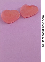 Frozen heart pair in vertical format with pink background - ...