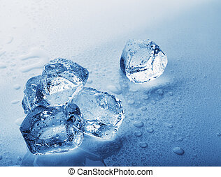 Frozen ice cubes