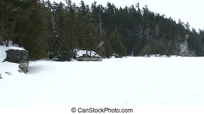 Frozen lake in Canadian Park