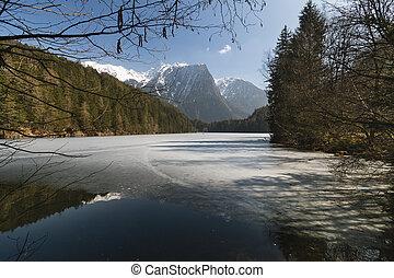 Frozen Lake Landscape, Austria