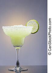 Frozen Margarita Cocktail - Frozen Margarita mixed drink...