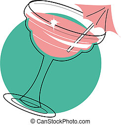 Frozen Margarita Daiquiri Clip Art - Frozen Margarita or...