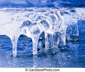 Frozen natural ice sculpture nature abstract art