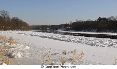 frozen neris river