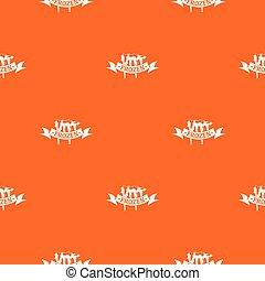 Frozen pattern vector orange