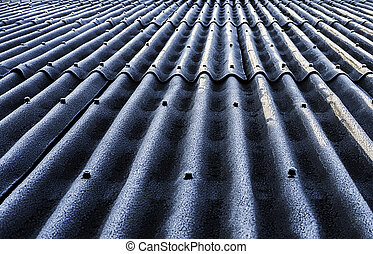 Frozen roof with loose nails popping through the plates.