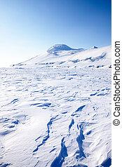 Frozen Sea - A frozen coastal landscape from Spitsbergen,...