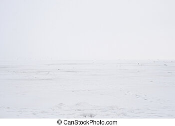 Frozen sea at winter.