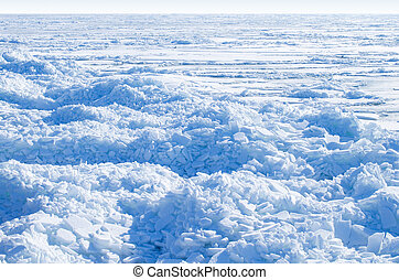 Frozen sea.