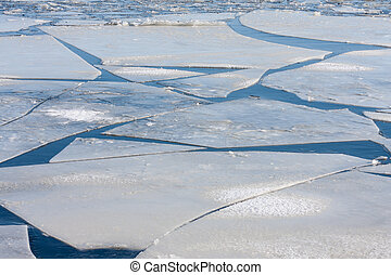 Frozen sea with big ice floes - Frozen sea with big ice...