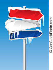 Frozen Signpost (illustration)