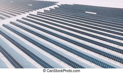 Frozen solar panels