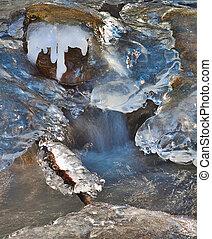 frozen stream detail