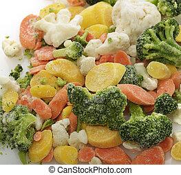 Frozen Vegetables - Frozen Raw Vegetables ,Close Up